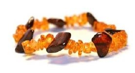 Baltic Amber Cherry & Honey Stretch Bracelet- 7-8 inch