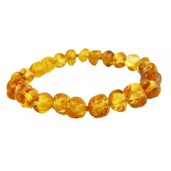 Baltic Amber 7 inch Bracelet- Honey Stretch