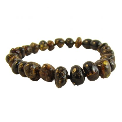 Baltic Amber 7-8 inch Bracelet- Olive Screw Clasp